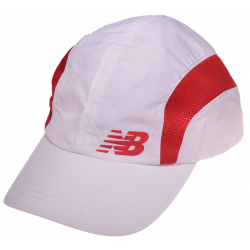 NEW BALANCE CZAPKA CAP WHITE/RED